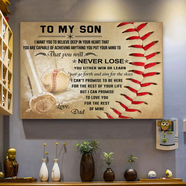 Baseball Canvas Prints Wall Art - Perfect Gift For Son - Matte Canvas