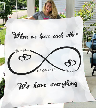 Custom Blankets Mr And Mrs Personalized Blanket - Perfect Gift For Couple - Fleece Blanket