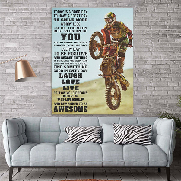 Dirt Bike Canvas Prints Wall Art - Matte Canvas