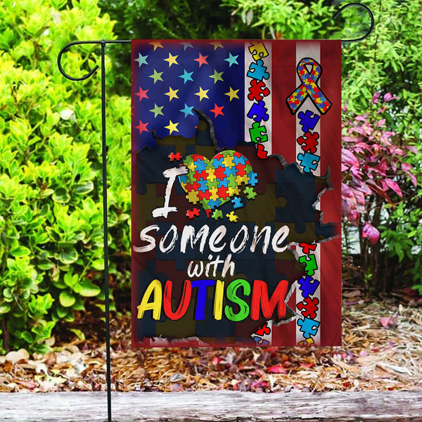 Custom Flag Love Autism Awareness Flag - Garden Flag
