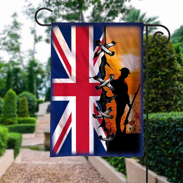 Custom Flag Veteran Lest We Forget Flag - Garden Flag