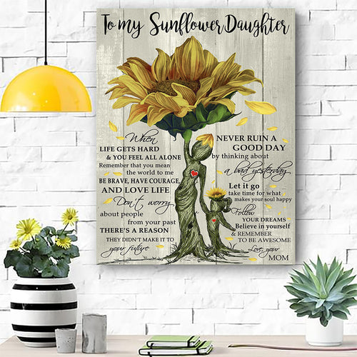 To My Sunflower Daughter Canvas Prints Wall Art - Matte Canvas