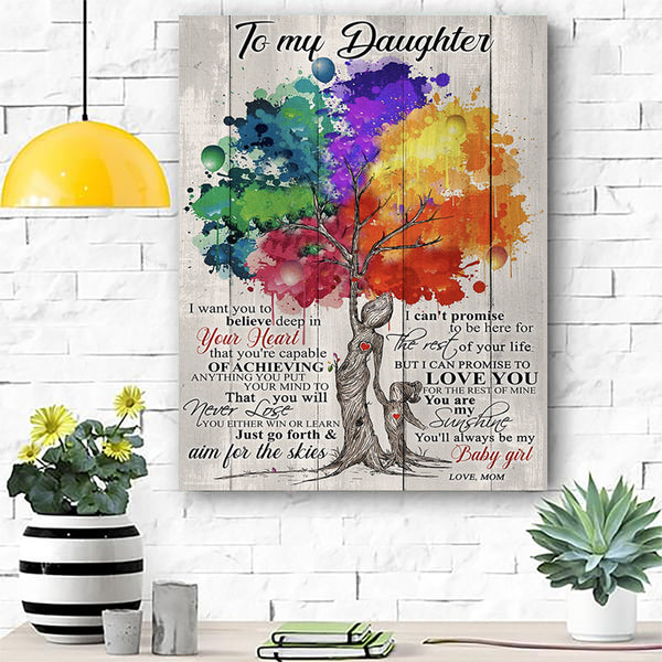 To My Daughter Canvas Prints Wall Art - Matte Canvas