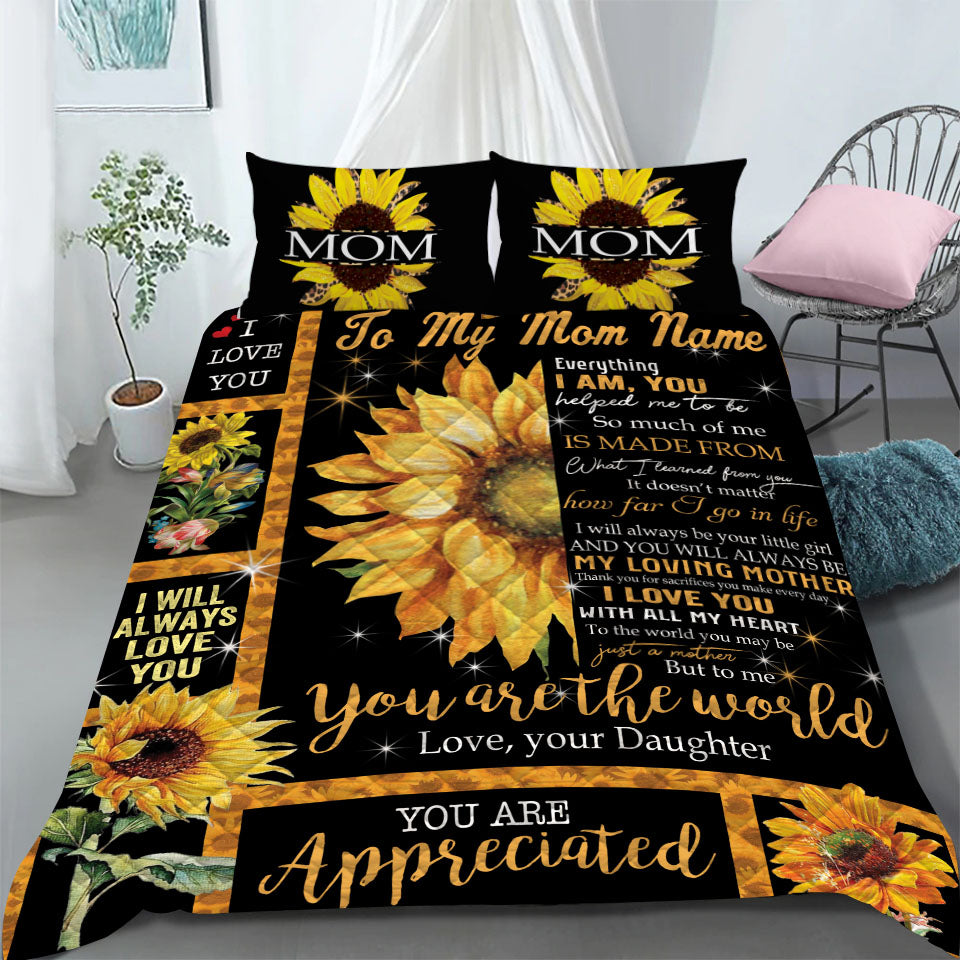 Custom Bedding Personalized Name To My Mom Bedding Set - Gift for Mom