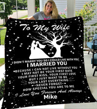 Custom Blankets Personalized Blanket - Perfect gift for Wife - Fleece Blanket