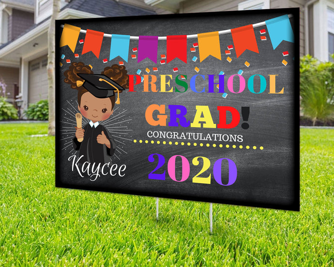 Custom Yard Sign Preschool Grad Personalized Yard Sign