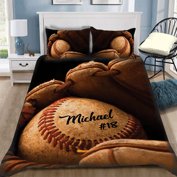 Custom Bedding Baseball Personalized Bedding Set