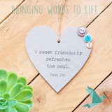Proverbs 27:9 A Sweet Friendship Refreshes the Soul – Heart