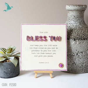 Numbers 6:24-26 BLESS YOU Aaronic Blessing - The Lord Bless You And Keep You