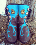 """Ancient Ocean"" boots 5 button"