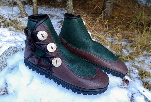 Teal (Forest Green) & Chocolate Hiker 3 button