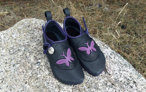 Black & Purple Butterfly Low-tops