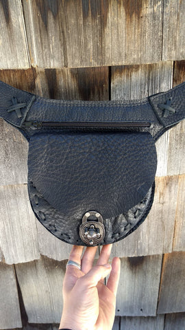 Black Hip Bag, Travel Belt