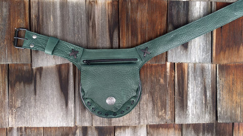 Forest green Hip Bag, Travel Belt