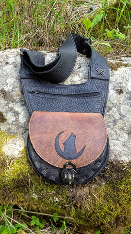 Wolf Shoulder/Cross-body Bag