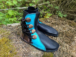 Turquoise, Black, Chocolate 4 button (stitchdown)
