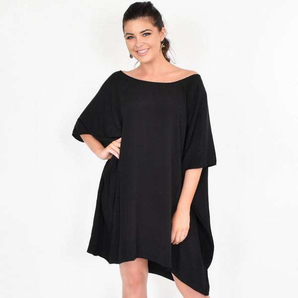 Adorne Me Free Size Black Dress