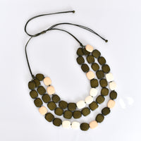 Khaki and Cream Layered Necklace