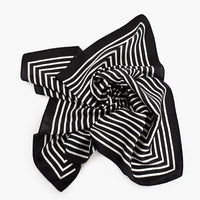 Scarf - Black and White Stripe Necktie