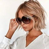 Black fashion sunglasses for women