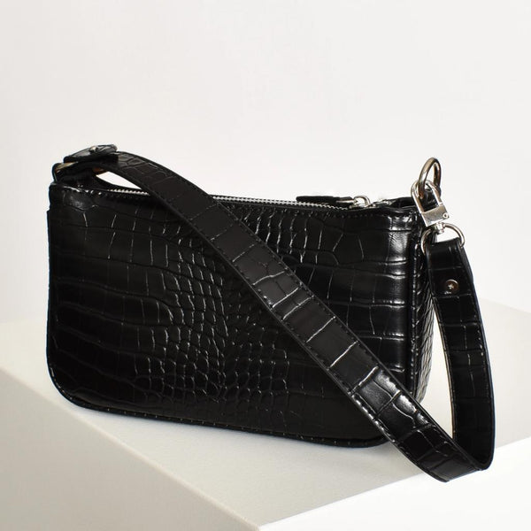Adorne - Mini Croc Baguette Bag