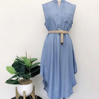 Renee - Denim Blue Dress - sammi