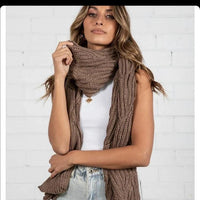 Brown Cable  Scarf - sammi