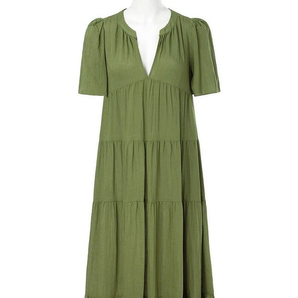Dear Siouxsie long green dress.