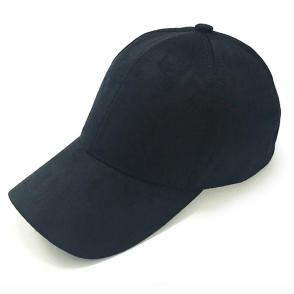 Suede Peaked Hat in Navy, Grey and Stone