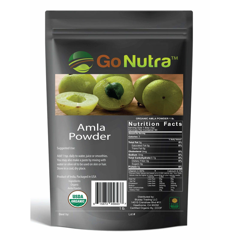 mla powder pure 100% amalaki - indian gooseberry hair growth for scalp neem ayurveda