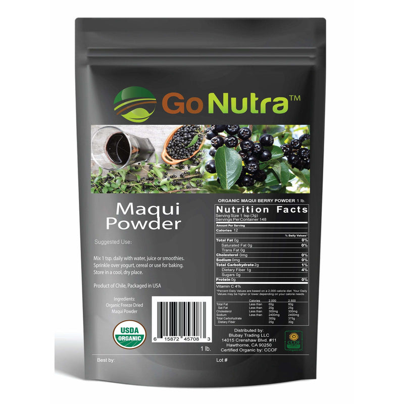 maqui berry powder freeze dried cile