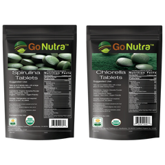 spirulina chlorella tablets Over 60% Protein and all 9 essential amino acids Chlorophyll rich
