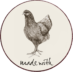 Non Caged Chicken Label
