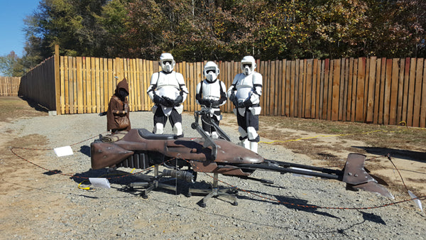 Blueprint Plans & 3D Parts for Building A FULL-SIZE STARWARS SpeederBike - Aces In Action