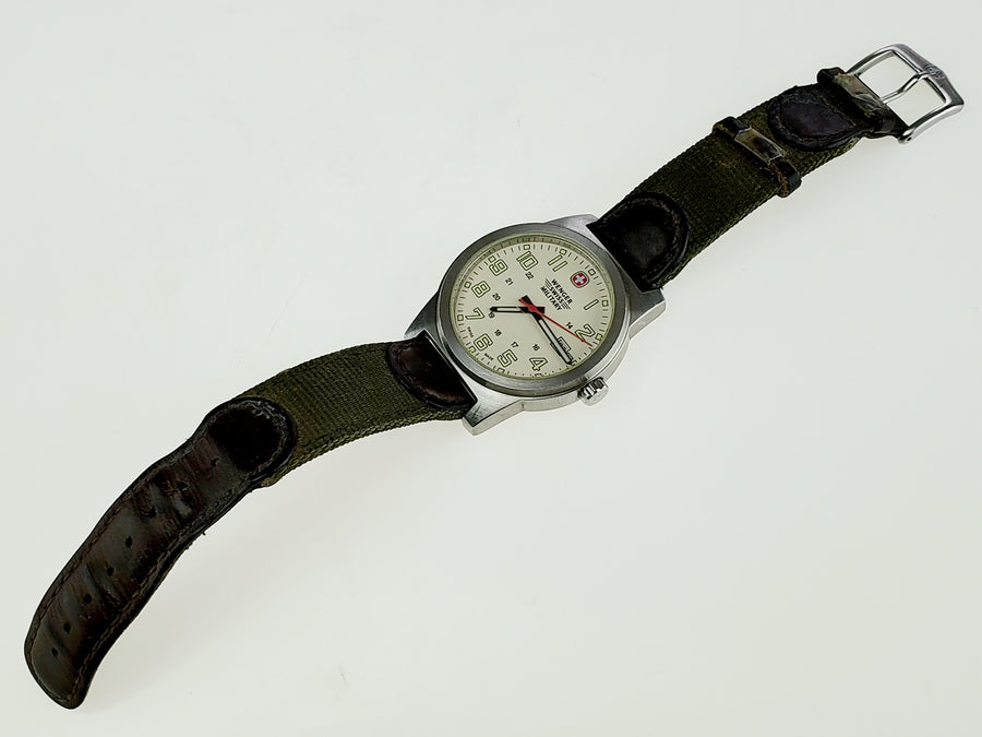 Wenger Swiss Military Watch with Leather Band - Aces In Action