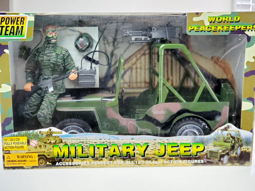 "World Peacekeeper Power Team Military Jeep with Action Figure 12""/30.5 CM 90014"