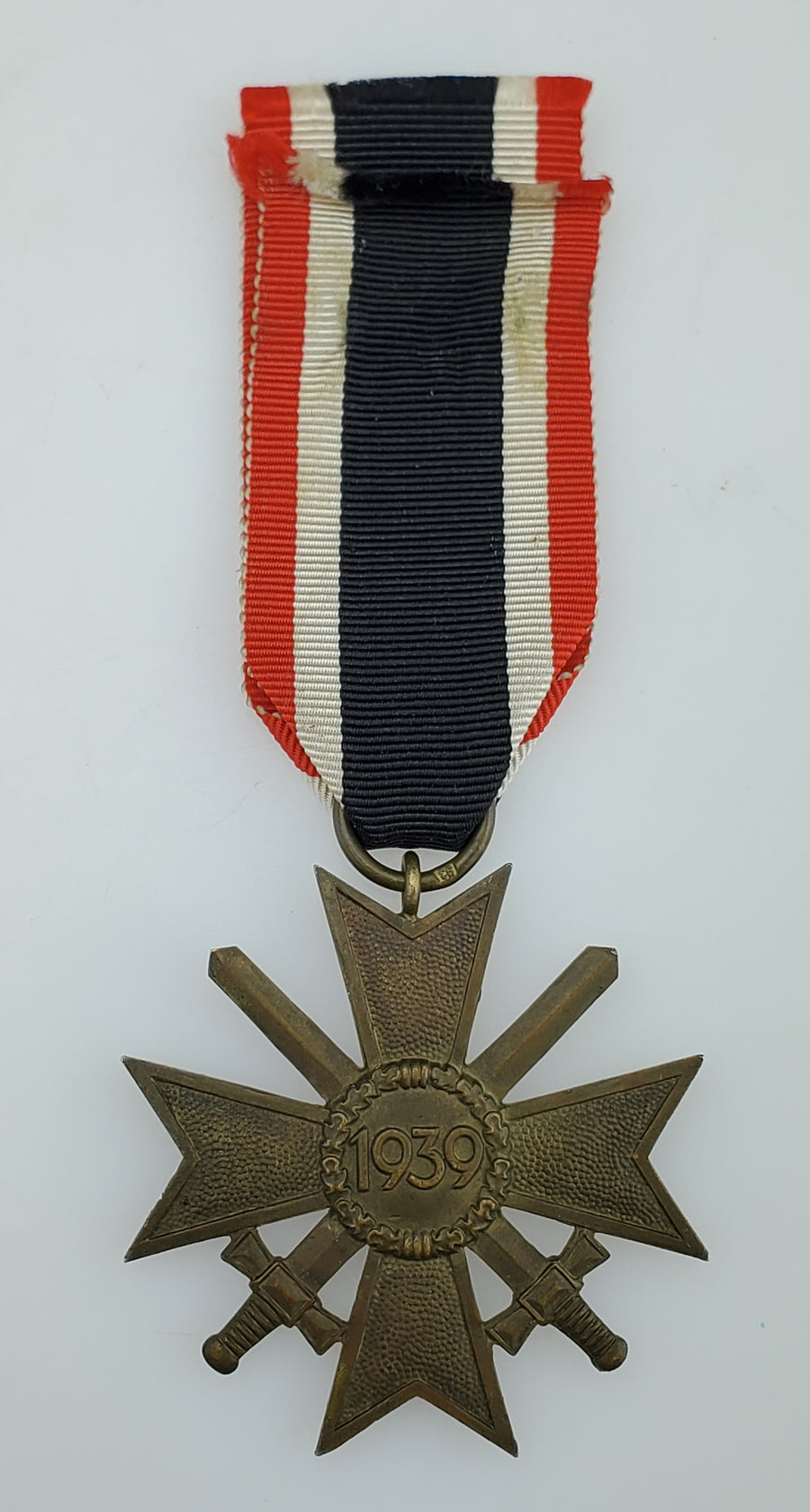 WW2 German War Merit Cross 2nd Class with Swords 1939 Early Issue with Ribbon - Maker Mark: Richard Simm & Sohne