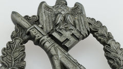 WW2 German Infantry Assault Badge (1941) - In Silver (Foot Infantry) - Maker Mark: S.H.u.Co. Sohni, Heubach & Co.