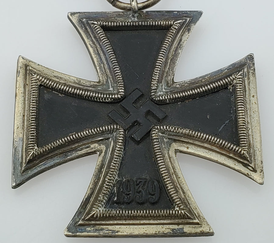WW2 German Iron Cross 2nd Class (Eisernes Kreuz 2. Klasse) with Ribbon - Aces In Action