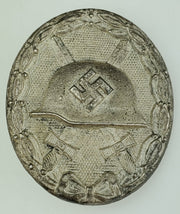 "WW2 German Wound Badge 2nd Class in Silver (Solid) Maker Mark: 92 ""Verwundetenabzeichen in Silber"" - Aces In Action"