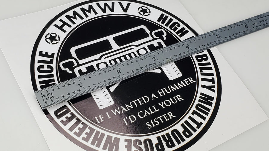 HMMWV Humvee M998 WANTED A HUMMER Vinyl Automotive Sticker/Decal - Aces In Action