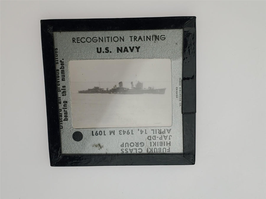 WW2 1943 US Navy Training Recognition Slide - Japanese Fubuki Class Ship - Aces In Action