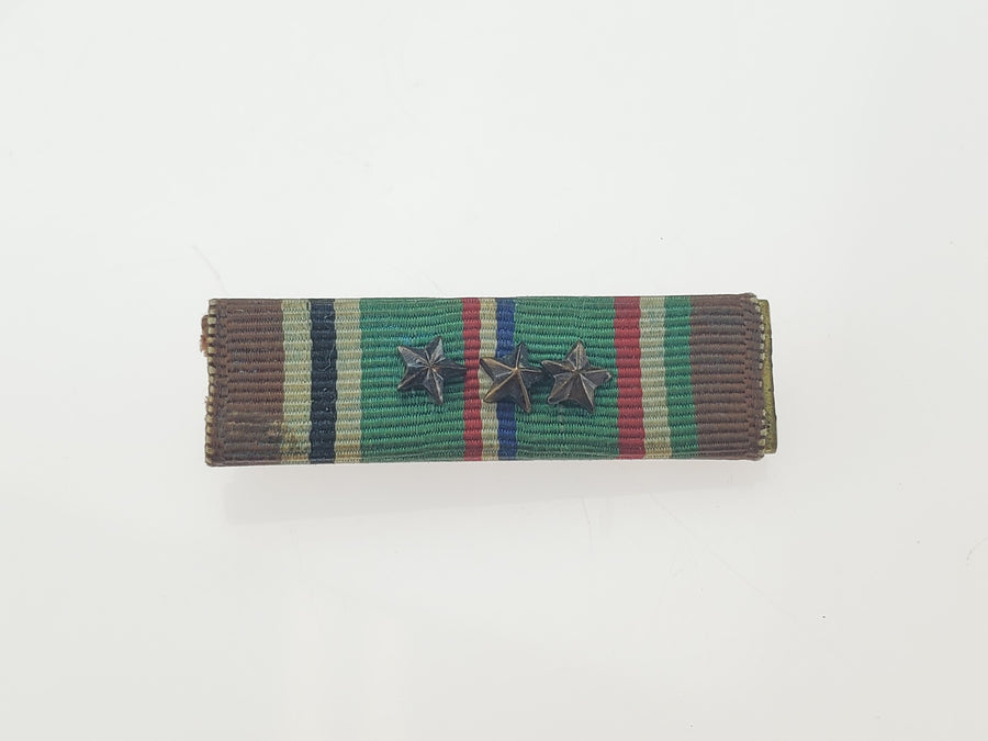 WW2 European African Middle East Campaign Ribbon - 3 Battle Stars - Aces In Action