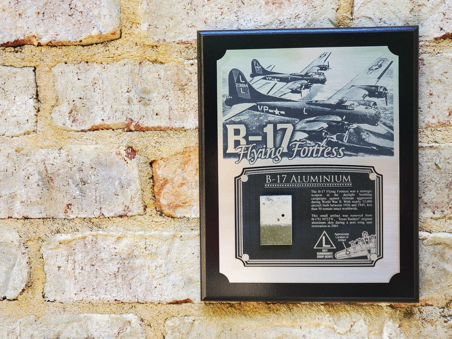 WWII B-17 Flying Fortress Historical Plaque - w/ Actual Relic & COA - Ltd. Qtys. - Aces In Action