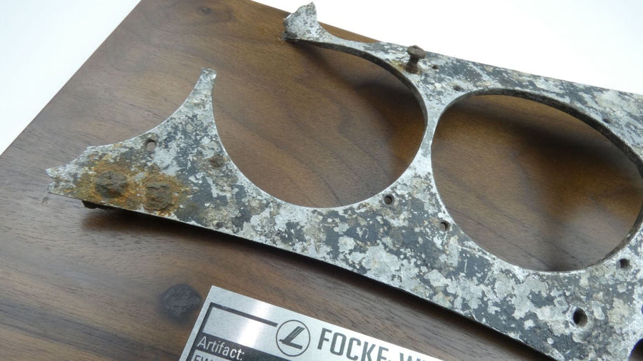 WW2 WWII German Focke-Wulf FW-190 Instrument Panel Fragment w/ Data Plate-Plaque - Aces In Action