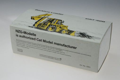NZG Cat Caterpillar Backhoe Loader 428 - No. 2851 1/50-Germany