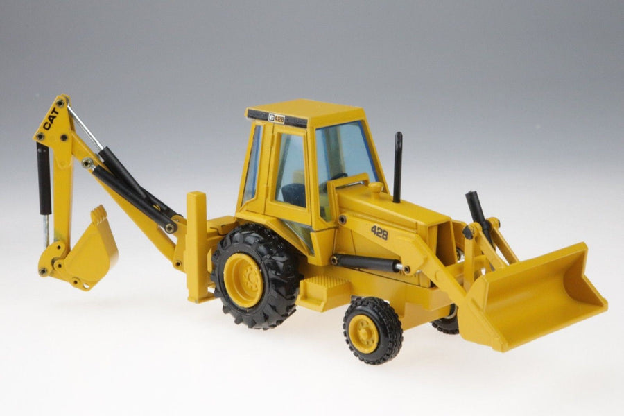 NZG Cat Caterpillar Backhoe Loader 428 - No. 2851 1/50-Germany - Aces In Action