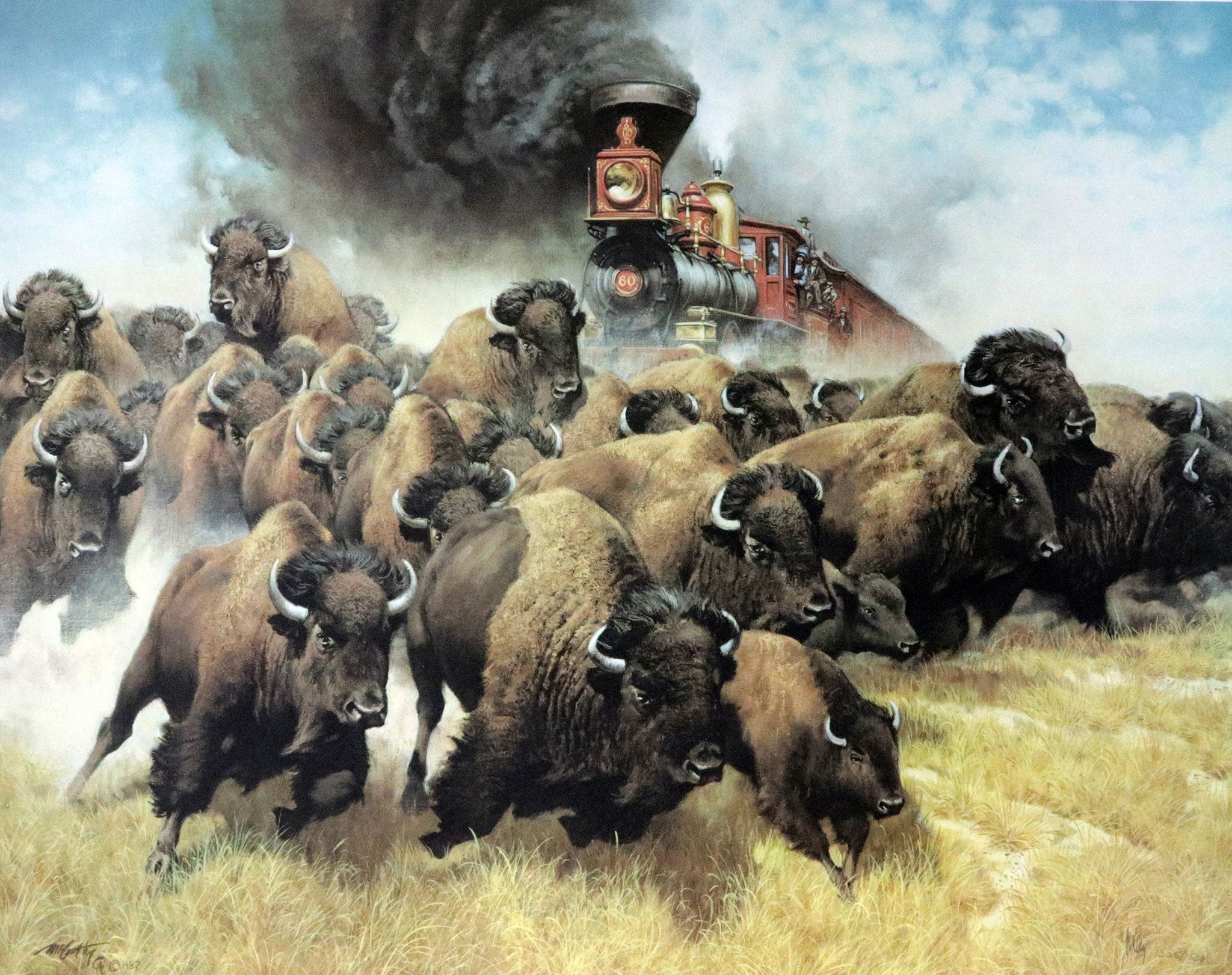 """The Coming Of The Iron Horse "" Fine Art by Artist Frank McCarthy"