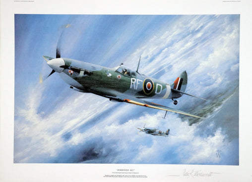 """Spitfire/ Borrowed Sky"" Fine Art by Artist Peter Westacott"