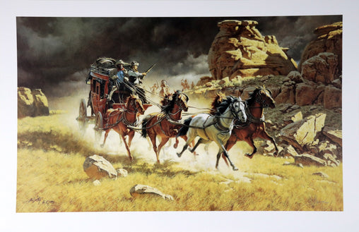 """The Chase"" Fine Art by Artist Frank McCarthy"